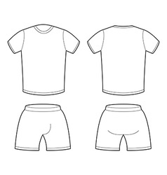 T-shirt and shorts template for design sample for vector
