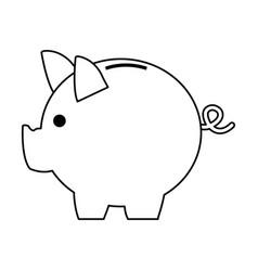 Moneybox piggy safe deposit banking vector