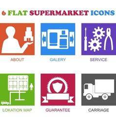 flat supermarket icons vector image