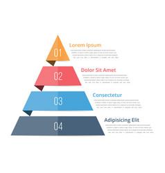 Pyramid chart template vector
