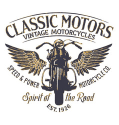 Classic vintage motorcycle company vector