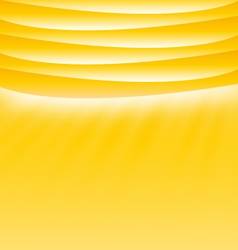 Yellow sunny template layout with place for text vector