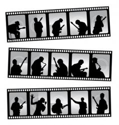 Music filmstrip vector