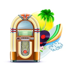 Summer music background vector