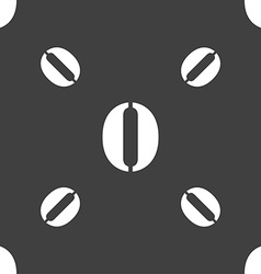 Number zero icon sign seamless pattern on a gray vector