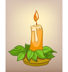 Cartoons decoration candle vector