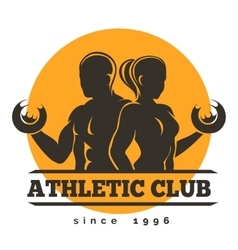 Sport athletic club emblem vector