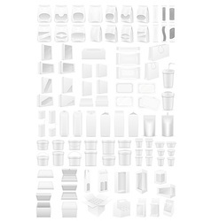 White packing vector
