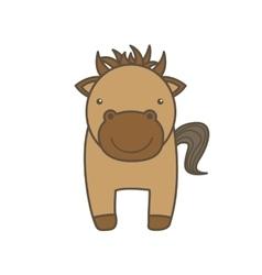 Horse cartoon icon animal farm design vector