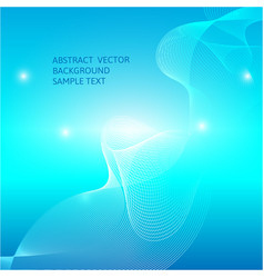 Abstract blue curve background graphic vector