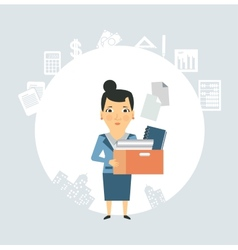 Accountant is documents and accounts vector image vector image