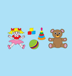Beautiful childrens toys vector