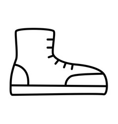 boot outlinel icon vector image vector image