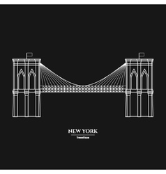 Brooklyn Bridge Icon 1 vector image