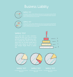 Business liability analysis vector