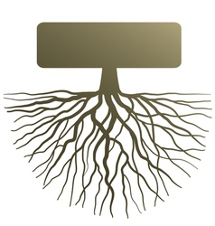 Concept with tree root vector image
