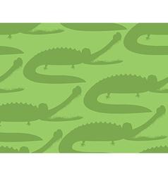 Crocodile seamless pattern Good caiman ornament vector image vector image