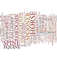 Equine lordosis text background word cloud concept vector