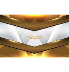 Geometric gold background vector