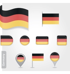 Germany icon set of flags vector image vector image