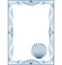guilloche vector frame vector image