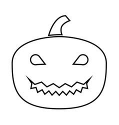 horror pumpkin it is black icon vector image vector image