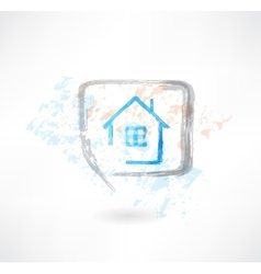 house in the speech bubble vector image vector image