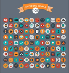 Huge modern collection of flat icons vector