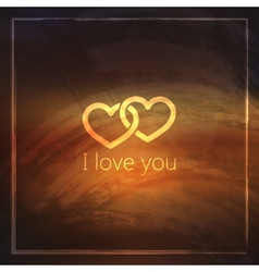 I love you abstract grunge background for web or vector image vector image