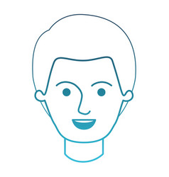 Male face with short hair in degraded blue vector