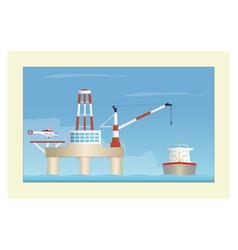 Offshore platform vector