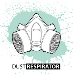 Respirator against dust on a bright background vector