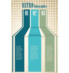 Retro Color Infographics Number Options Banner vector image vector image