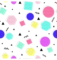 seamless geometric pattern Memphis Style vector image vector image