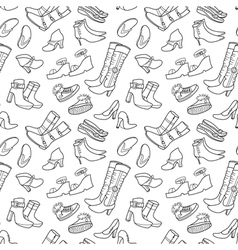 seamless pattern with female shoes vector image vector image