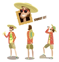 Set of tourists vector image vector image