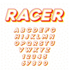 Speed Racing Sport Italic Font with Letters and vector image vector image