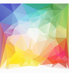 square low poly background multicolored vector image vector image