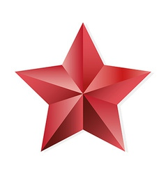 Star ruby isolated object vector