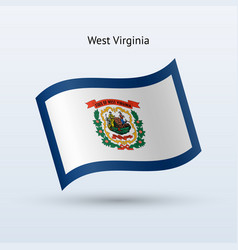 State of west virginia flag waving form vector