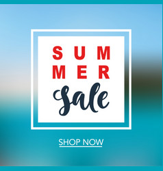 summer sale mobile banner template vector image vector image
