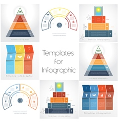 Templates for Infographics Business set 3 4 vector image vector image