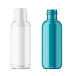 transparent plastic cosmetic bottle template vector image vector image