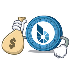 With money bag bitshares coin character cartoon vector
