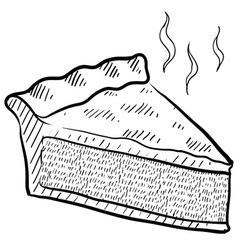 doodle pie slice vector image
