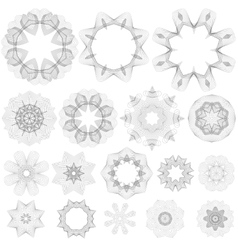 Creative Rosettes Collection vector image
