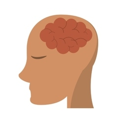 person head brain think vector image
