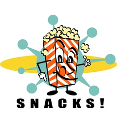 Retro popcorn snacks vector