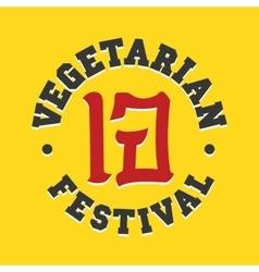 Vegetarian festival jay food sign vector