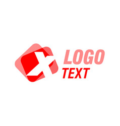 letter x logo icon design vector image